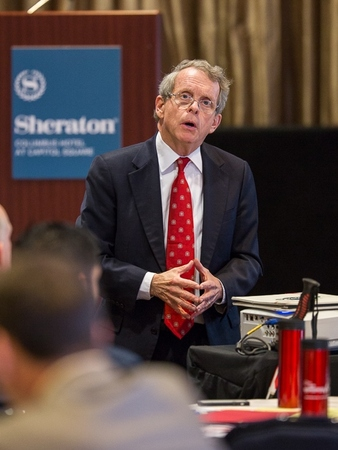 Attorney General Mike DeWine addresses EM Leadership Forum attendees