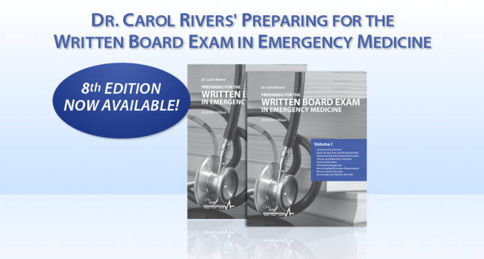 Ohio ACEP | Dr  Carol Rivers' Written Board Review Products