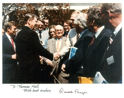 Ohio ACEP's then-President Elect, Dr. Tom Hall, represents ACEP at a White House press conference in 1982