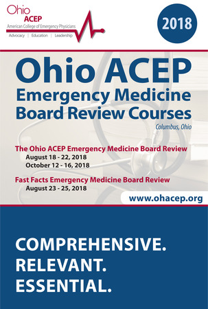 2018 Ohio ACEP Emergency Medicine Board Review Course Brochure Cover