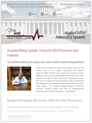August 19 Advocacy Update Thumb