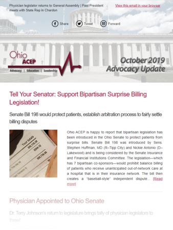 October 19 Advocacy Update Thumb