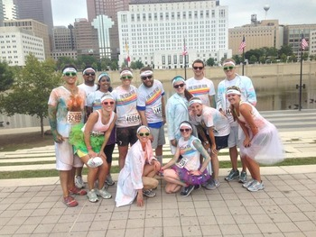 Residents at Color Run